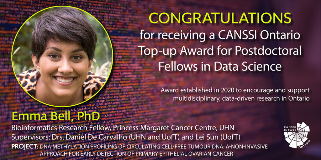 Image of Dr. Emma Bell's CANSSI Ontario top-up award announcement