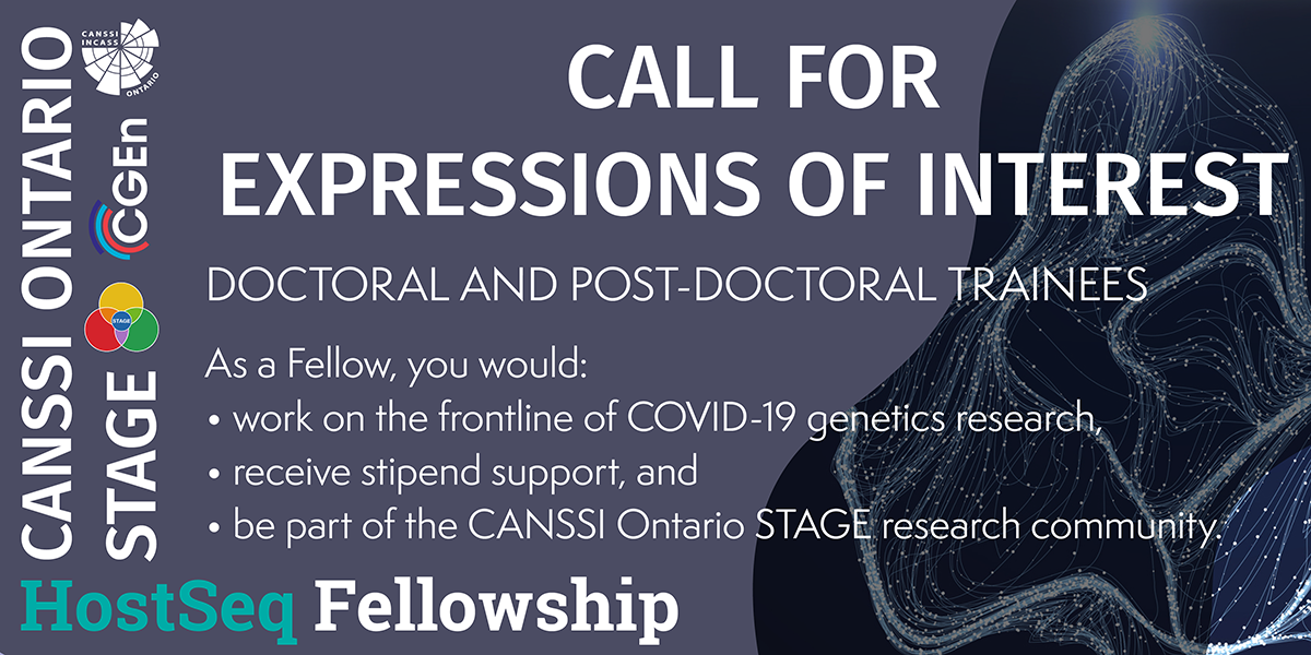 Image for call for expressions of interest for CANSSI Ontario STAGE HostSeq Fellowship